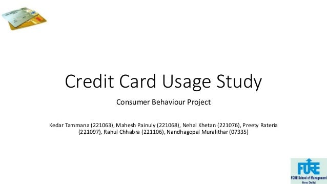 consumer behavior towards credit card usage Use, our study offers a richer analysis to explain consumer behavior than  previous literatures key words: credit card, usage, barriers and pakistan 1.