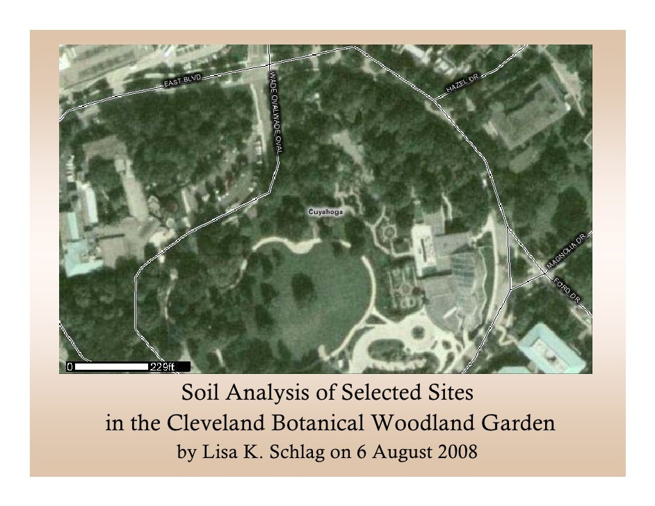 Soil Analysis of Selected Sitesin the Cleveland Botanical Woodland Garden      by Lisa K. Schlag on 6 August 2008