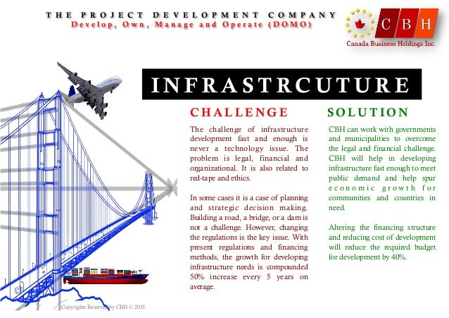 I N F R A S T RC U T U R E The challenge of infrastructure development fast and enough is never a technology issue. The pr...