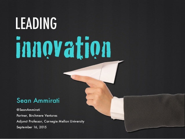 innovation Sean Ammirati 