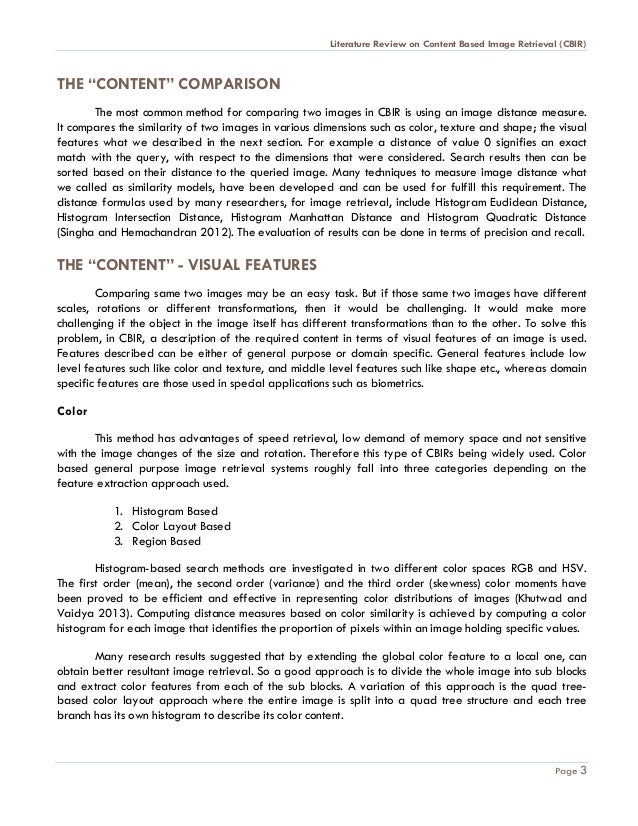 literature review layout