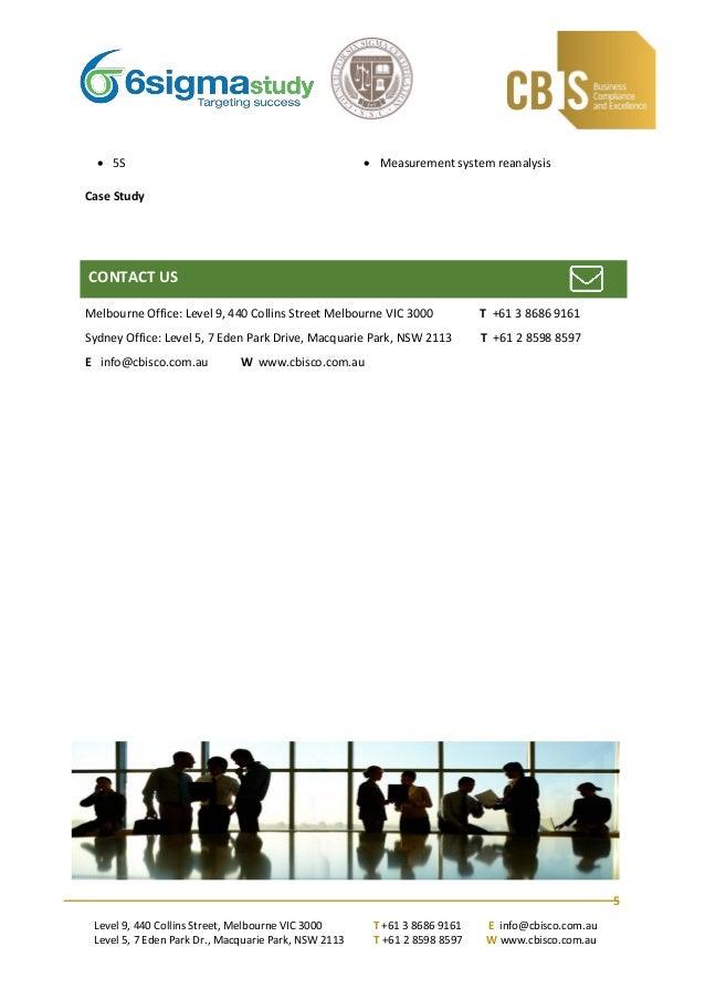 Cbis Six Sigma Green Belt Online Training