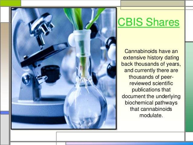 CBIS Shares Cannabinoids have an extensive history dating back thousands of years, and currently there are thousands of pe...