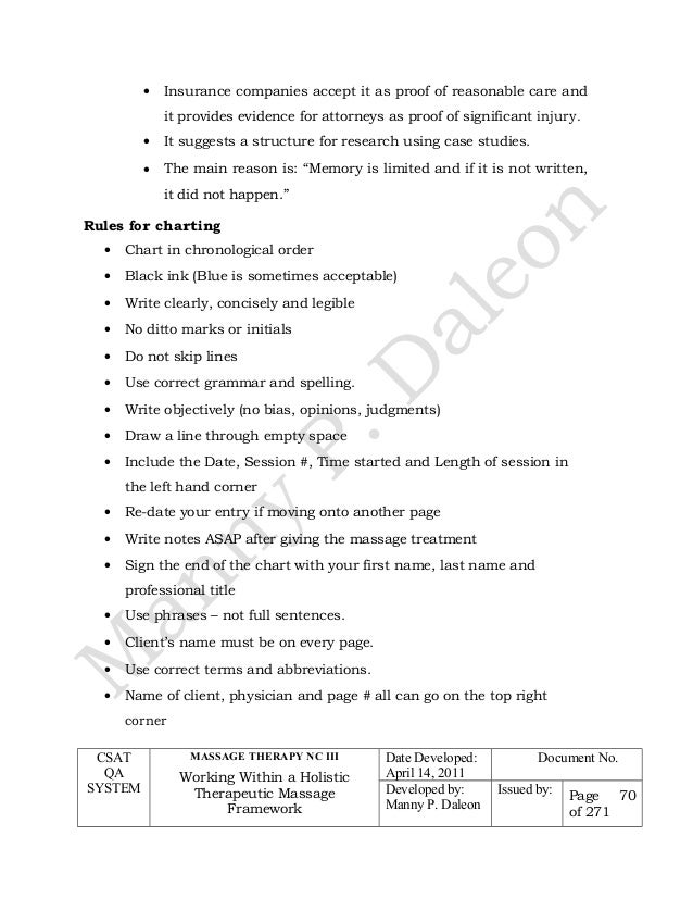 cblm massage core1 new - Critical Response Essay Format