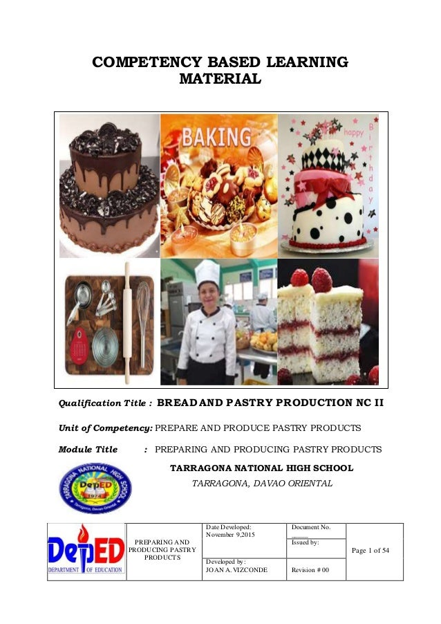 Product produce cakes and pastries