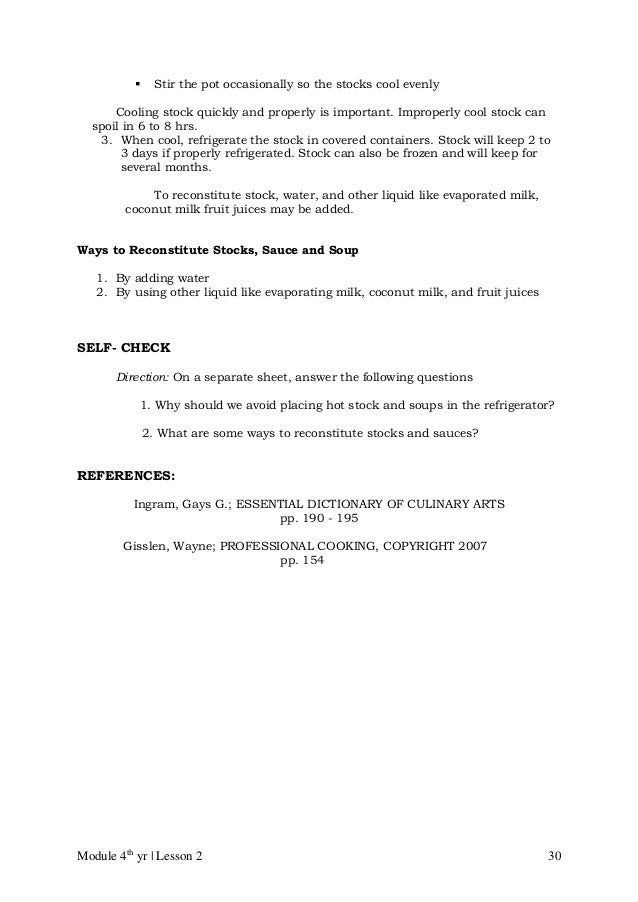 Cblm lg gr 10 tle commercial cooking cookery – Culinary Arts Worksheets