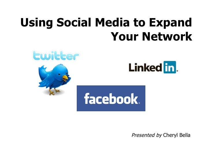 Using Social Media to Expand Your Network Presented by  Cheryl Bella