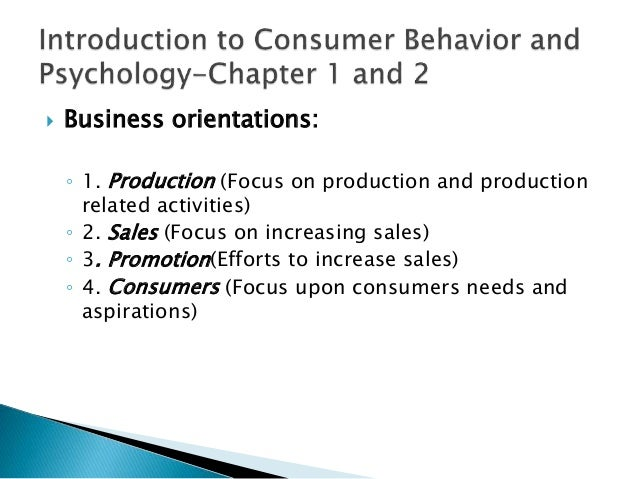 introduction to consumer behaviour essay