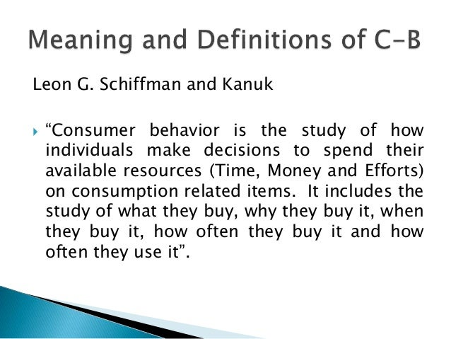 market research and consumer behavior ppt