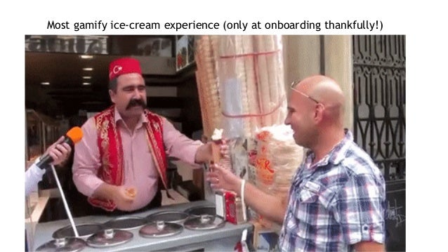 Most gamify ice-cream experience (only at onboarding thankfully!)