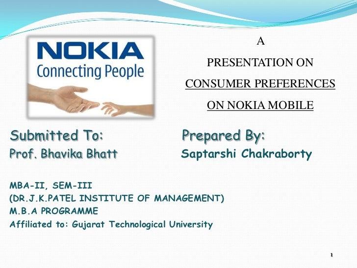 consumer satisfaction on nokia mobile