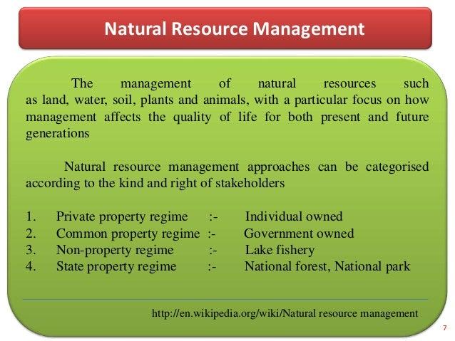 community based natural resource management