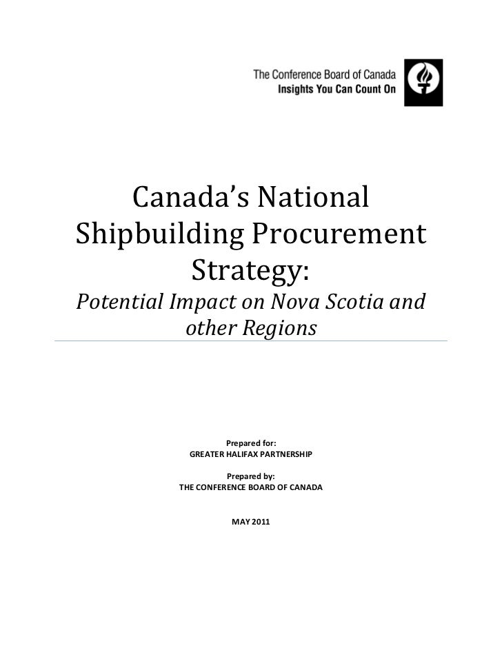 Canada's NationalShipbuilding Procurement        Strategy:Potential Impact on Nova Scotia and           other Regions     ...