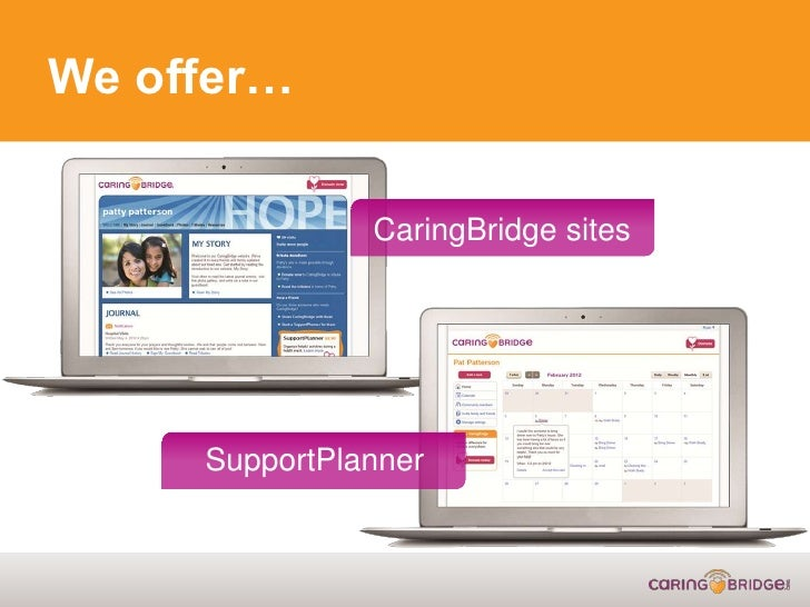 how to set up a caringbridge site