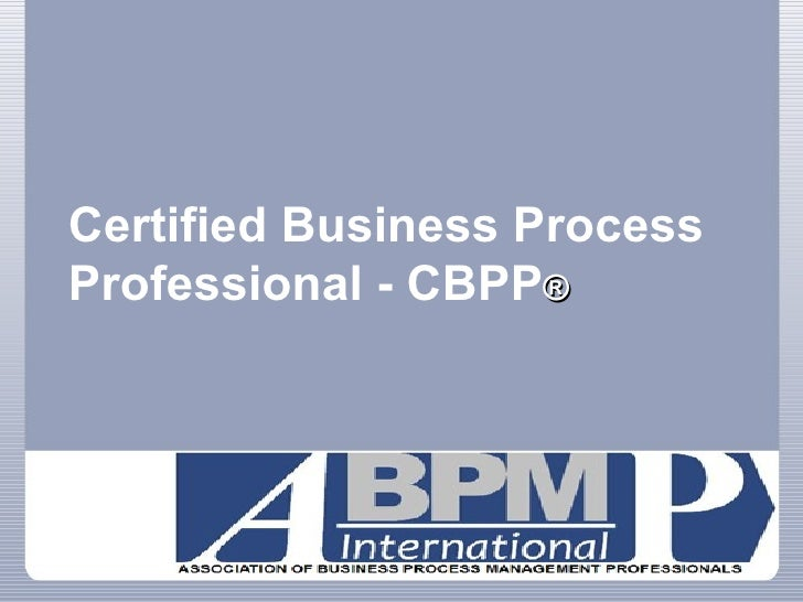 All about BPM Certification