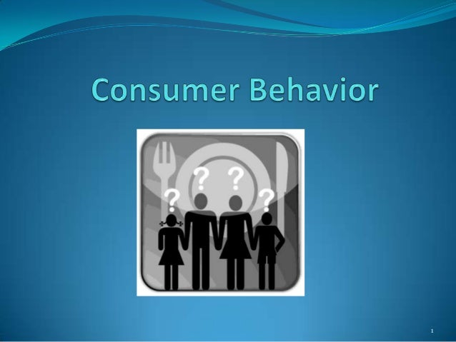 Consumer traits and behaviors paper and presentation