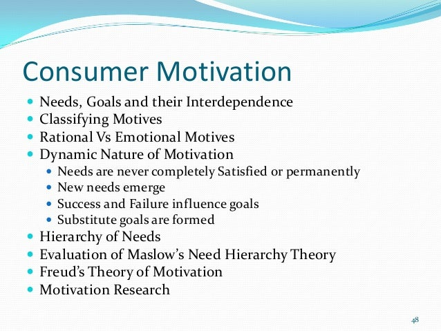 consumer needs motivations and goals Semantics and metaphysics of motivations and goals  classification, consumer behavior, motivation goals, demand,  semantics and metaphysics of motivations 275.