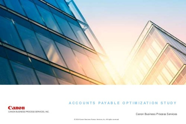 payable surveys accounts payable optimization survey sponsored by canon 4166