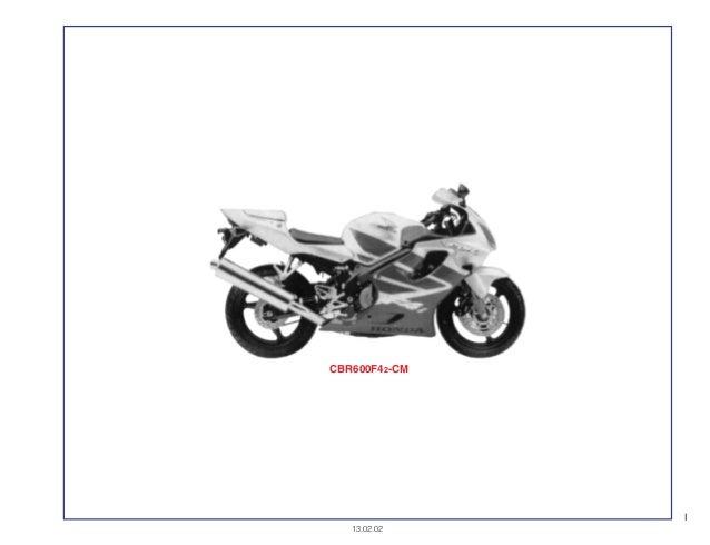 Manual Moto Cbr600 f2f42