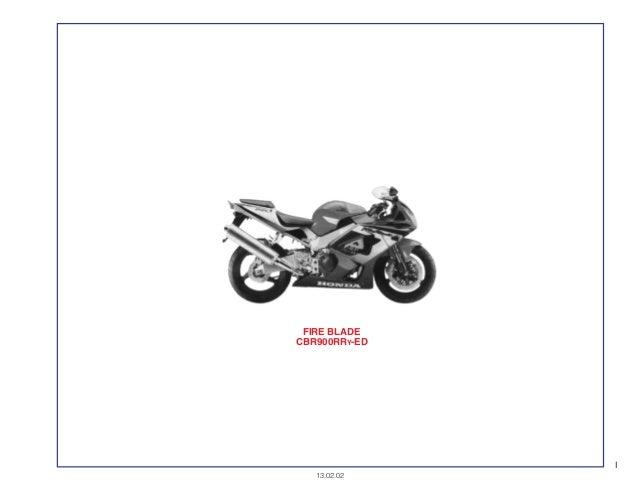 Manual Moto Cbr900 r ry12