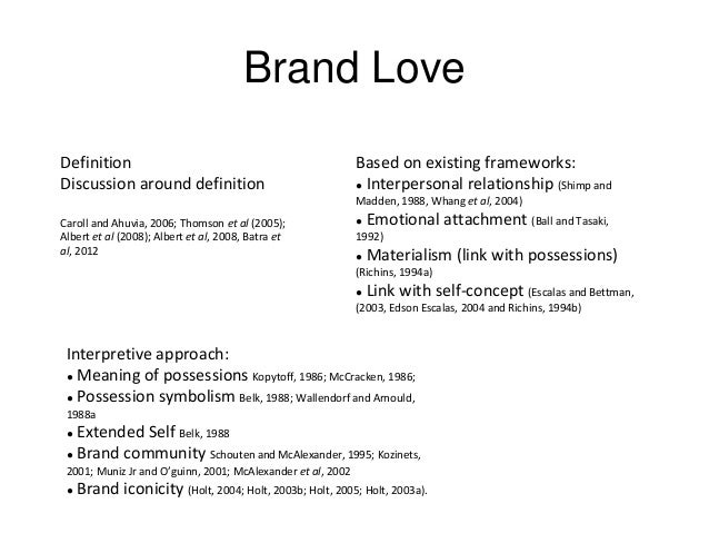 Awesome 3. Brand Love Definition ...