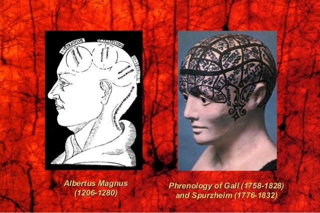 Albertus MagnusAlbertus Magnus (1206-1280)(1206-1280) Phrenology of Gall (1758-1828)Phrenology of Gall (1758-1828) and Spu...