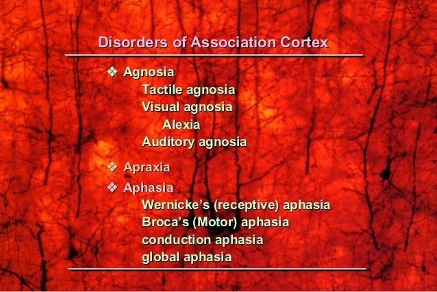 ApraxiaApraxia The inability to execute a voluntary motor movement despiteThe inability to execute a voluntary motor movem...