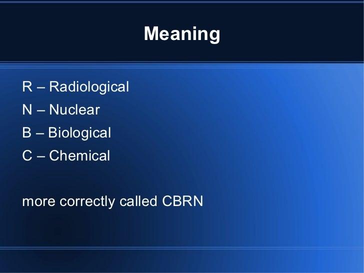 CBRN Slide 2