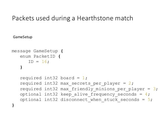 Hearthstone: an analysis of game network protocols - Marco