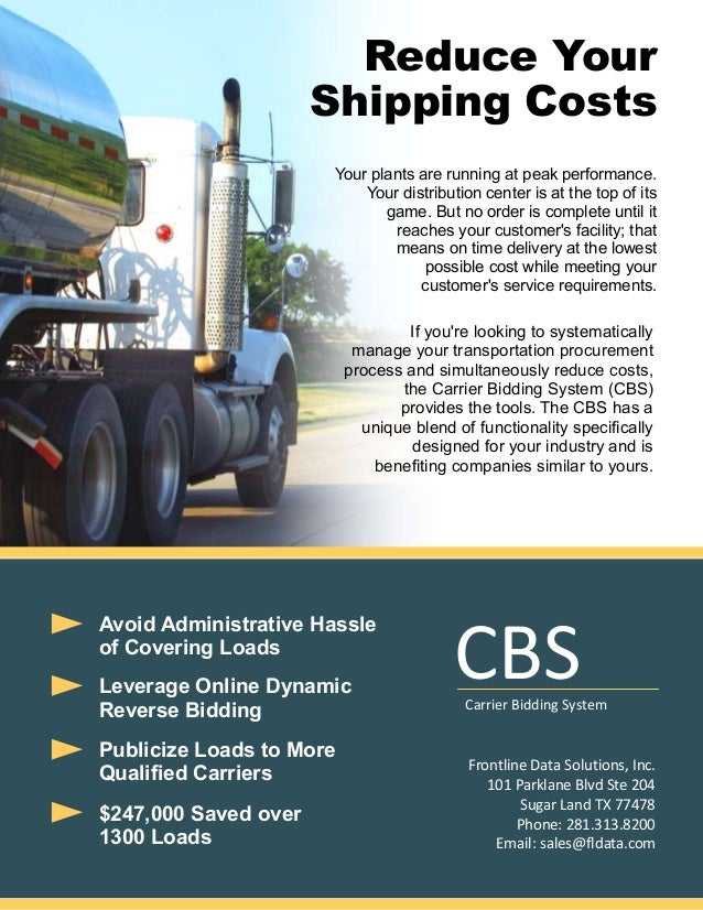 Reduce Your Shipping Costs Your plants are running at peak performance. Your distribution center is at the top of its game...