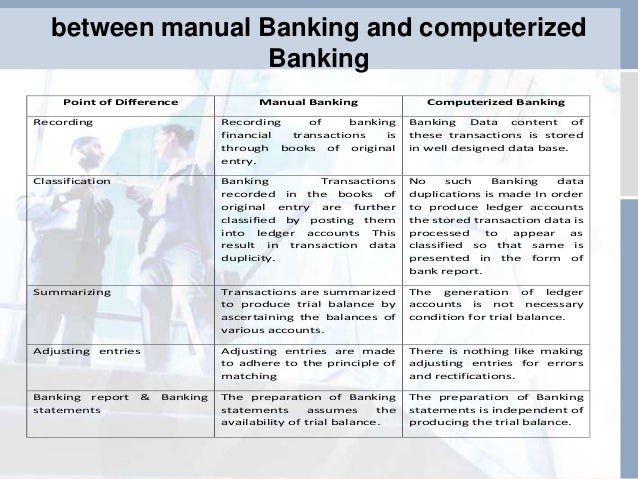 differences between computerised and manual information system