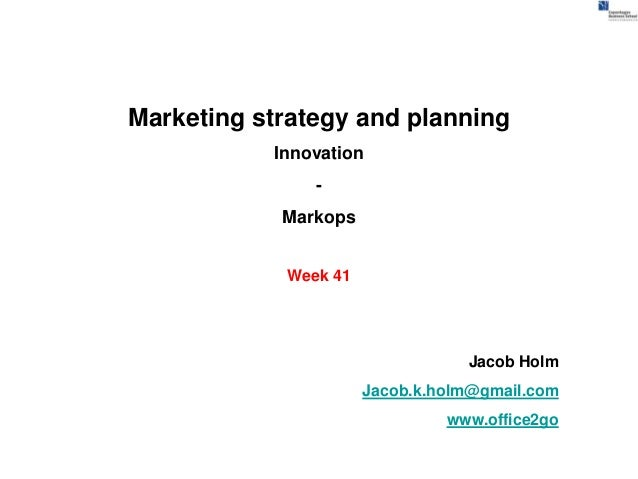 Marketing strategy and planning           Innovation               -            Markops            Week 41                ...