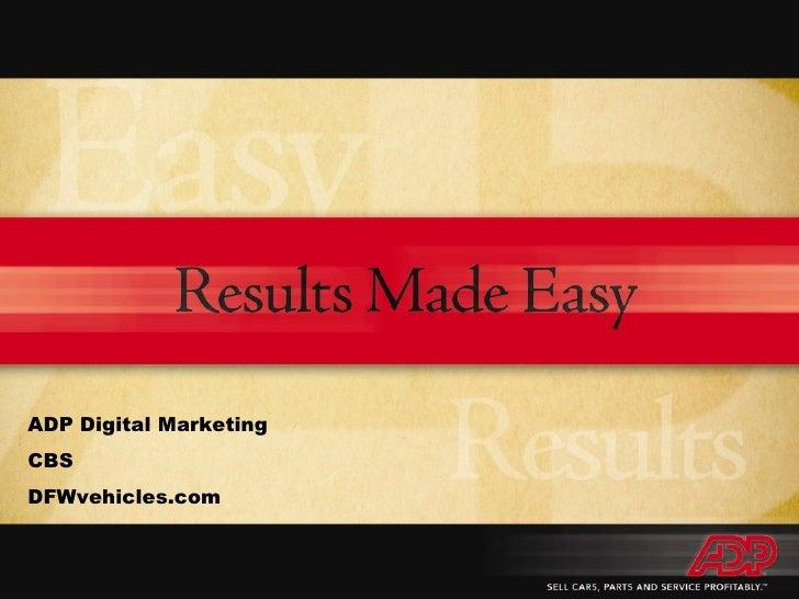 ADP Digital Marketing CBS DFWvehicles.com