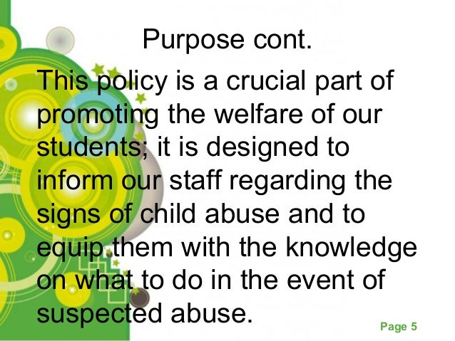 proposals for public policy concerning child abuse Read chapter 10 priorities for child maltreatment research: the tragedy of child abuse and neglect is in the forefront of public attention yet, without.