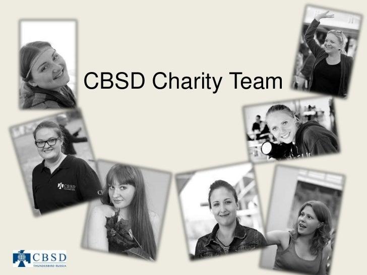 CBSD Charity Team