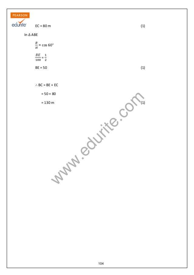 Class 10 Cbse Maths Sample Paper Term 2 2013