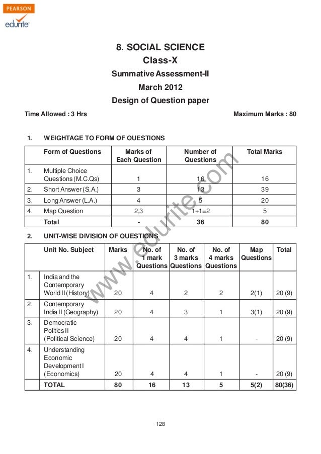social sample paper class 8 cbse Sample question papers, syllabus and guidelines for class ix and x for term i (first term september'2011) class ix.