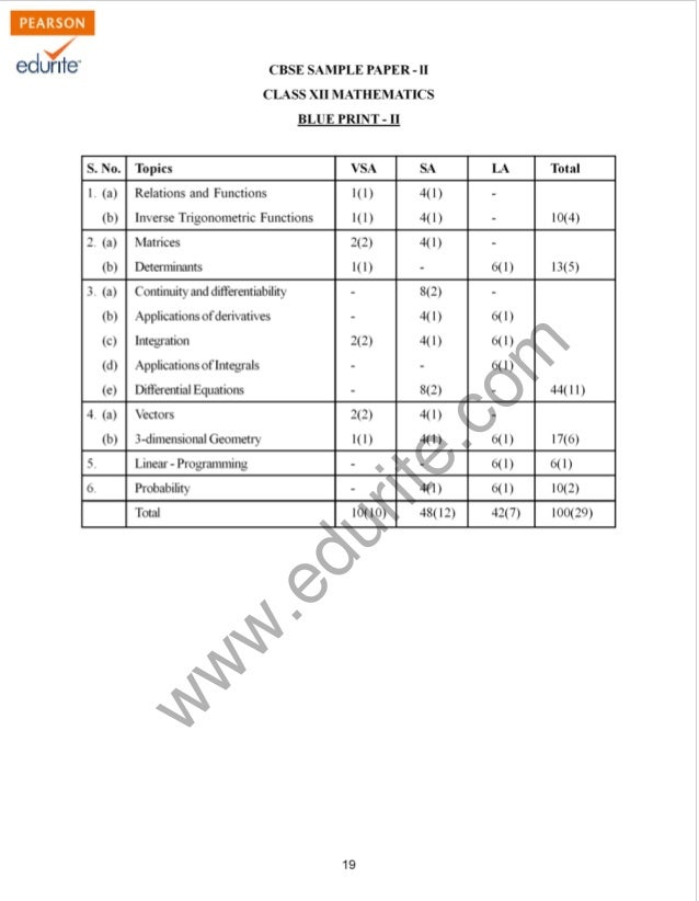 Class 12 Cbse Maths Sample Paper 2011-12 Model 2
