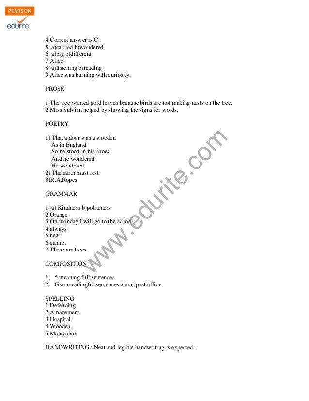 Class 4 Cbse English Question Paper 2011