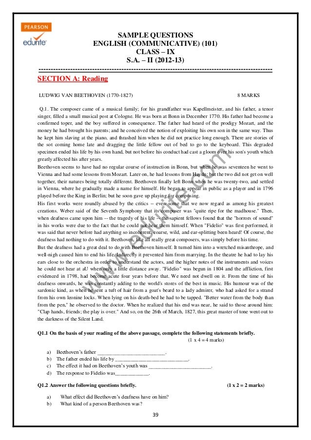 Previous Year Question Paper for CBSE Class 10 & 12 (All Subjects)