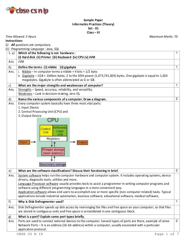 Cbse Ip Sample Paper