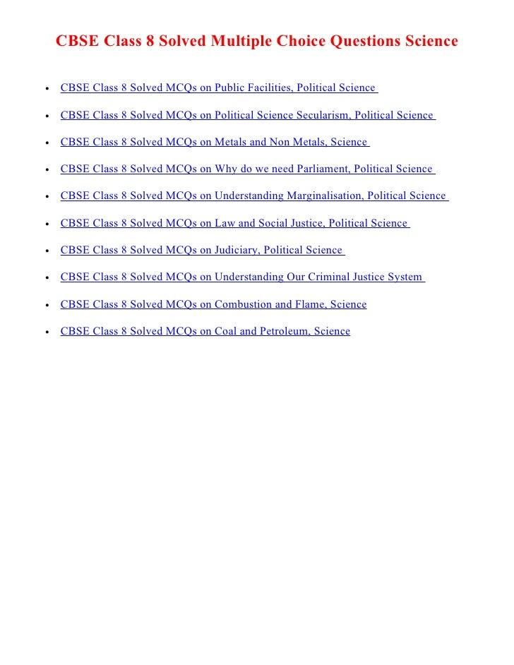 Cbse Class 7 English Mcqs 4 Multiple Choice Questions