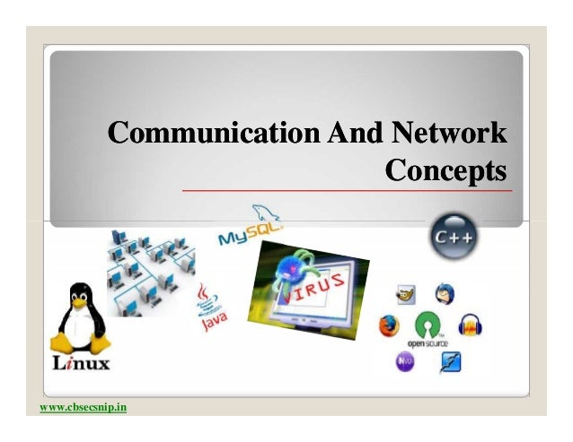 Communication And Network                             Conceptswww.cbsecsnip.in