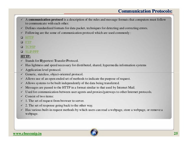 Communication Protocols:     A communication protocol is a description of the rules and message formats that computers mu...