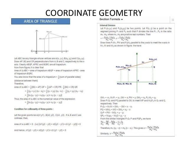 Cbse class 10th math quick reference coordinate geometry area of triangle ccuart Images