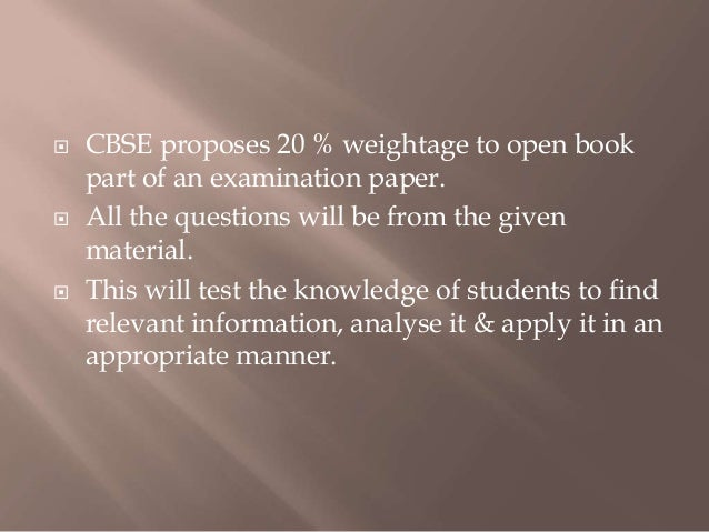 Www.cbse.nic.in Open Book Test