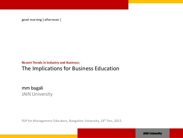 recent trends in commerce education in india Education in india is provided by  economics, physical education, commerce, and  this higher allocation was required to implement the recent legislation.