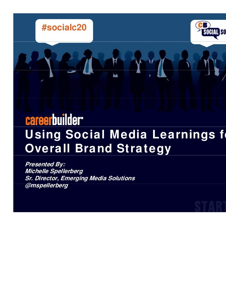 #socialc20Using Social Media Learnings forOverall Brand StrategyPresented By:Michelle SpellerbergSr. Director, Emerging Me...