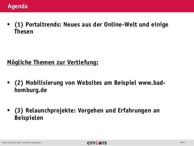 Kommunale Internetportale - Stadt und Netz 2013 Slide 3