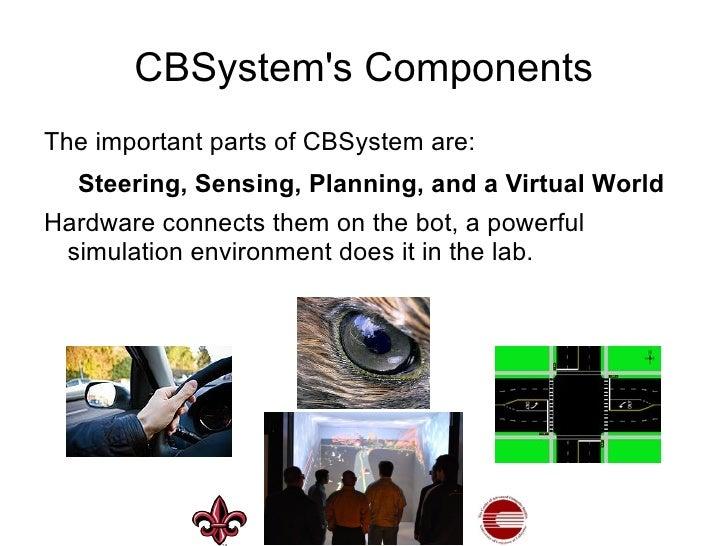 Visualization system </li></ul>3-D simulation: <ul><li>World, vehicle, and sensors